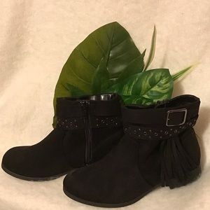 AMERICAN EAGLE Black Double Strap Ankle Boot